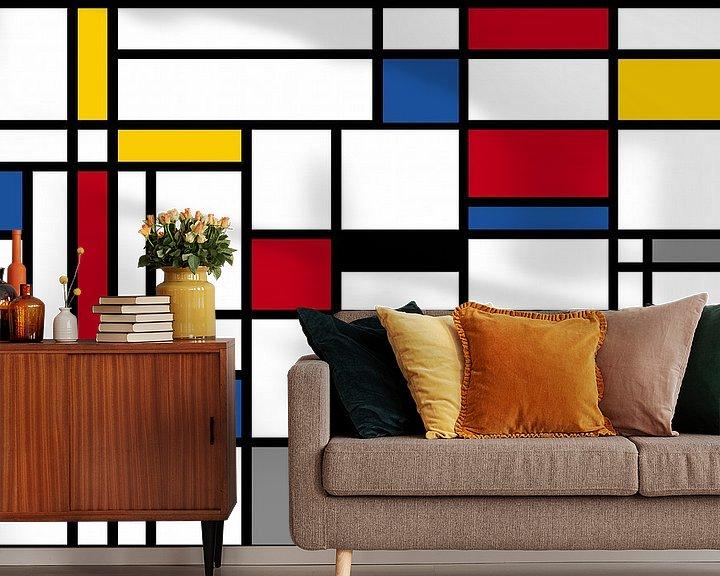 Beispiel fototapete: Komposition-I-Piet Mondrian von Marion Tenbergen