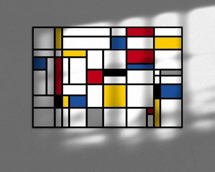 Beispiel: Komposition-I-Piet Mondrian von Marion Tenbergen