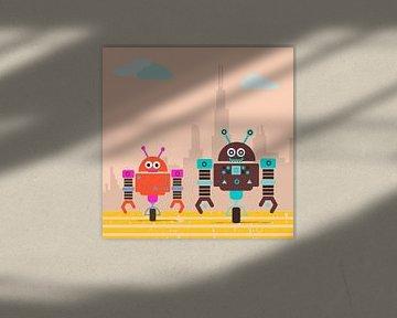 kleine robot monsters gaan van Marion Tenbergen