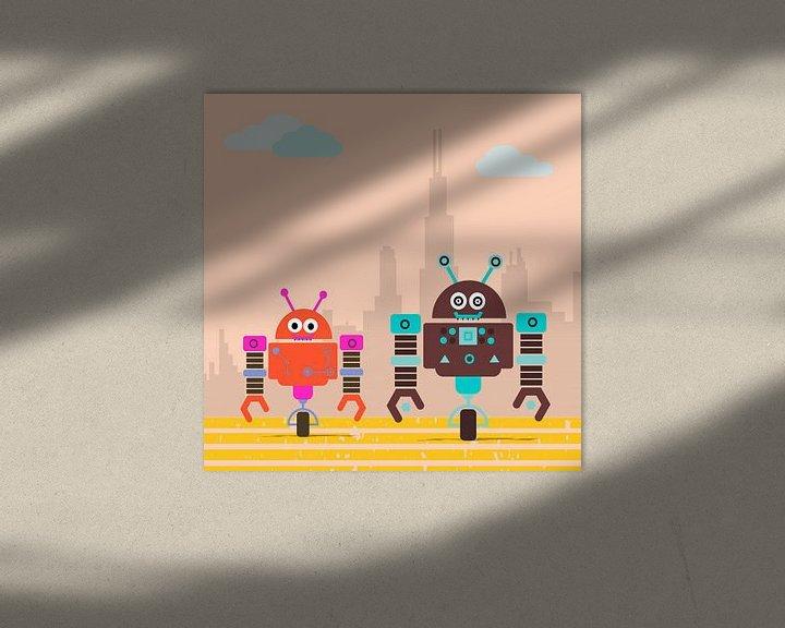 Sfeerimpressie: kleine robot monsters gaan van Marion Tenbergen