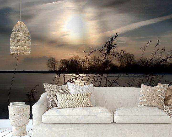 Sfeerimpressie behang: IJsselmeer van Rob van der Teen