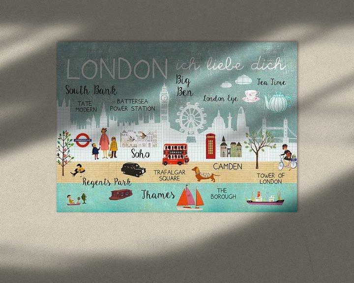 Beispiel: London – ich liebe dich Collage von Green Nest