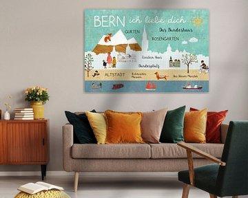 Bern – ich liebe dich Collage von Green Nest
