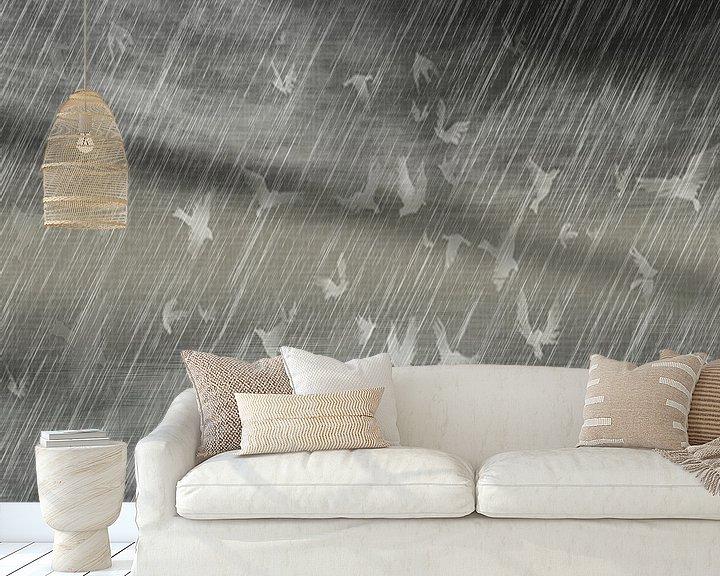 Beispiel fototapete: Rainy Landscape N.3 von Olis-Art