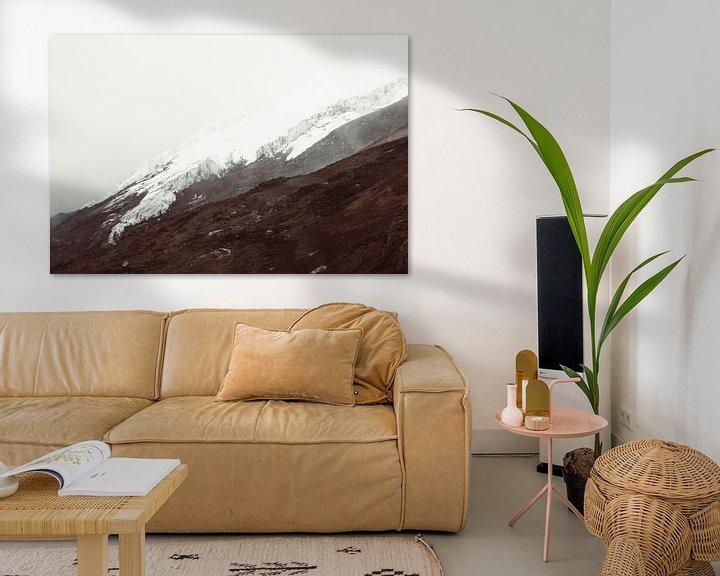 Sfeerimpressie: Cotopaxi gletsjer van Tomas Grootveld