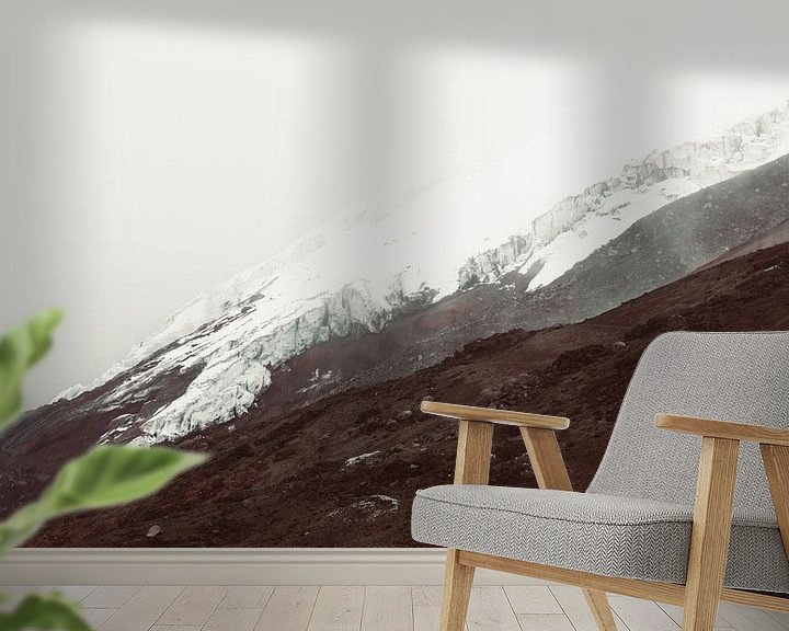 Sfeerimpressie behang: Cotopaxi gletsjer van Tomas Grootveld