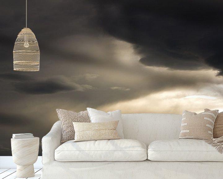 Sfeerimpressie behang: Zonsondergang San Sebastiaan van Tomas Grootveld