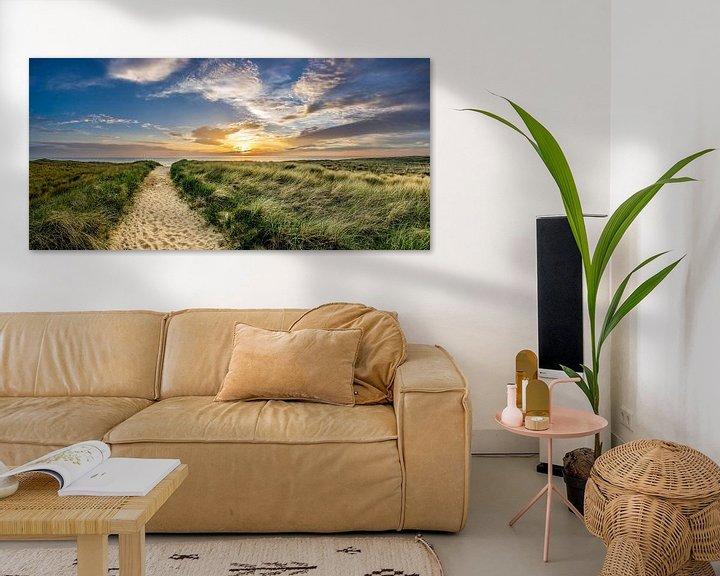 Sfeerimpressie: Strand Paal 15 Duin Zonsondergang Texel  van Texel360Fotografie Richard Heerschap