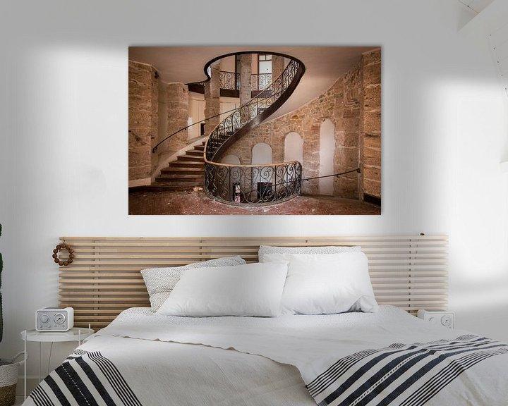 Beispiel: Verlassene Treppe im Schloss. von Roman Robroek