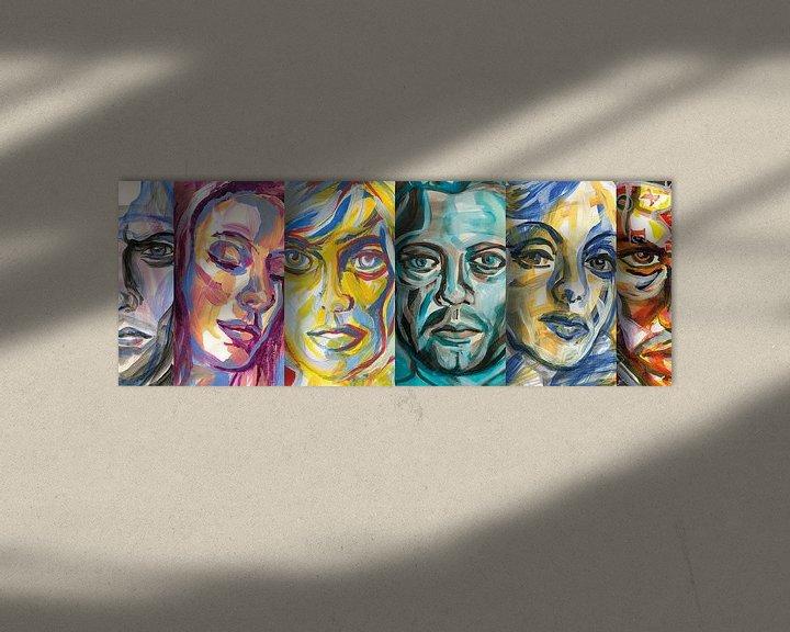 Beispiel: Neugierige Gesichter von ART Eva Maria
