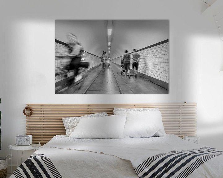 Impression: Mouvement urbain, Sint Annatunnel à Antwerpen sur MS Fotografie | Marc van der Stelt