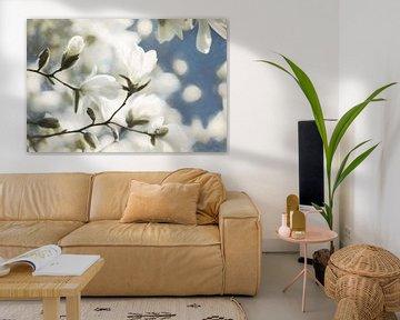 Fröhlicher Blütenzweig von Lars van de Goor