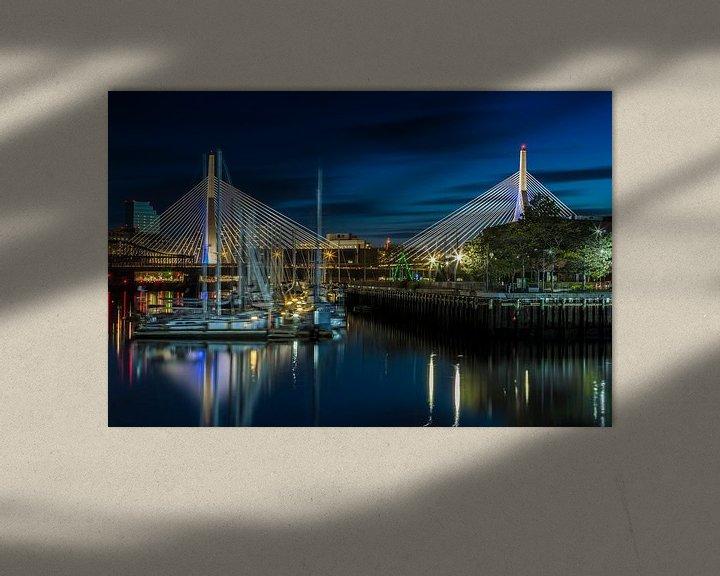 Sfeerimpressie: BOSTON Bunker Hill Bridge van Melanie Viola