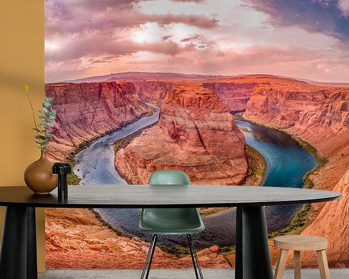 Sfeerimpressie behang: Horseshoe bend Grand Canyon, USA van Chris Wiersma