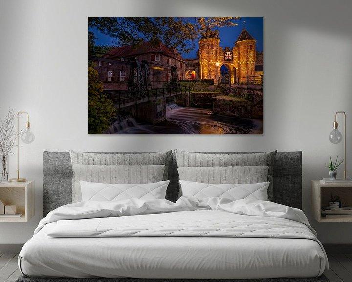 Sfeerimpressie: Koppelpoort by night van Erwin van den Berg