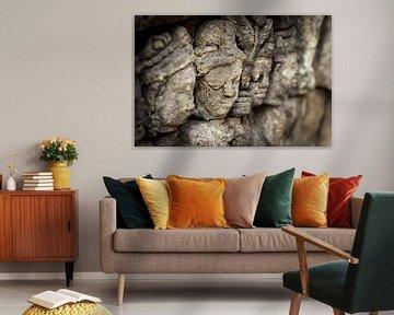 Gesichter von Borobudur von Chantal Nederstigt
