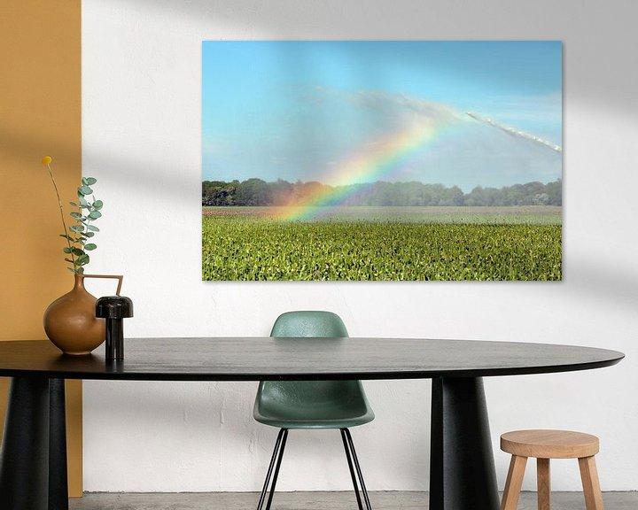 Sfeerimpressie: Regenboog door irrigatie veroorzaakt van Ronald Smits