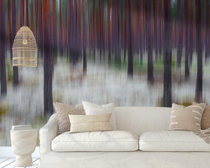 Sfeerimpressie behang: beweging van Pim Leijen