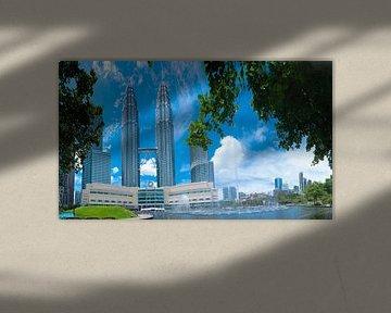 Petronas Towers Kualala Lumpur van Roland de Zeeuw fotografie