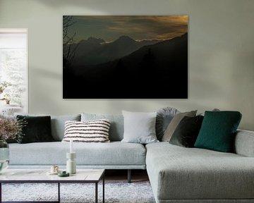 Mistige Franse Alpen