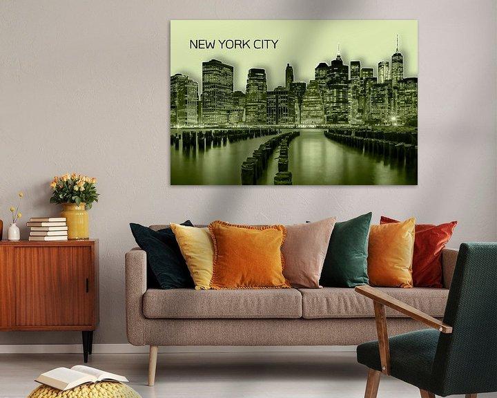 Beispiel: MANHATTAN Skyline   Graphic Art   gelb von Melanie Viola