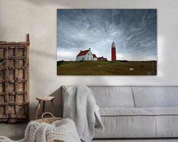 Prachtige lucht Vuurtoren  Texel van Ronald Timmer