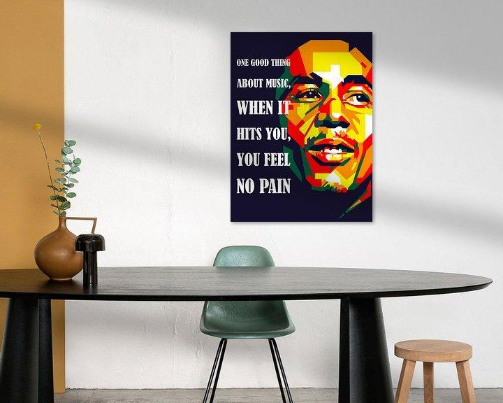 Beispiel: Pop Art Bob Marley von Doesburg Design