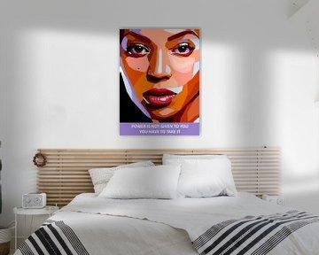 Pop Art Beyonce van Doesburg Design