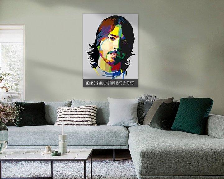 Beispiel: Pop Art Dave Grohl - Foo Fighters von Doesburg Design
