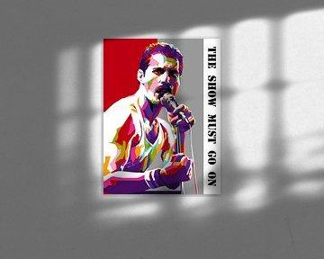 Pop Art Freddie Mercury von Doesburg Design