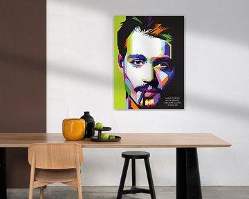 Pop Art Johnny Depp von Doesburg Design