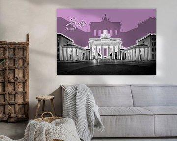 Berlin Brandenburg Gate | Graphic Art | purper van Melanie Viola