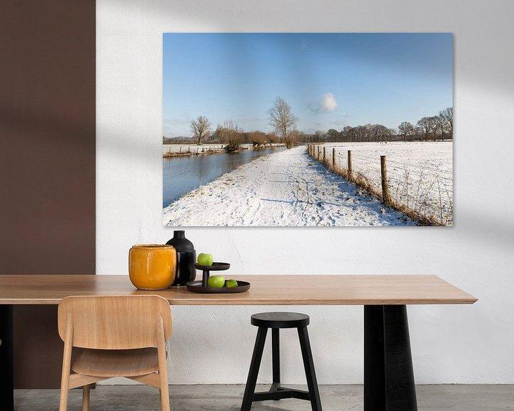 Sfeerimpressie: Winters landchap langs de Kromme Rijn van Marijke van Eijkeren