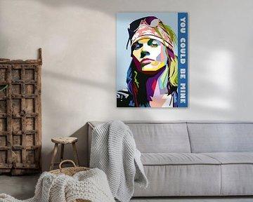 Pop Art Axl Rose - Guns N' Roses von Doesburg Design
