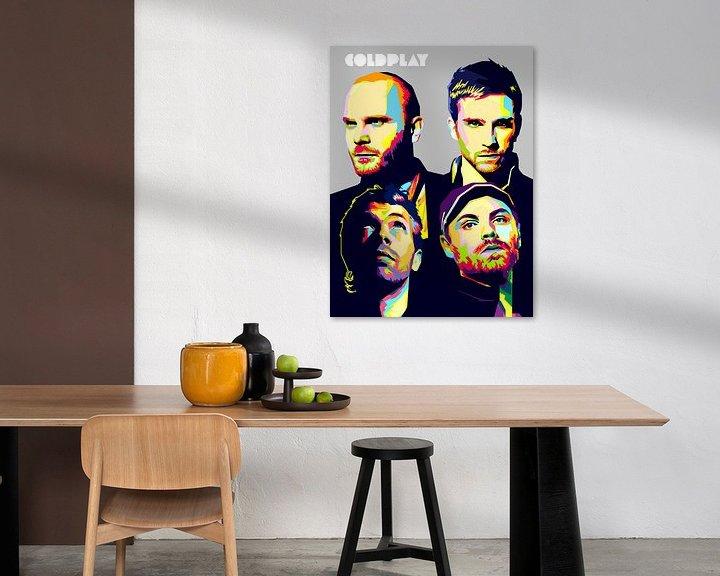 Beispiel: Pop Art Coldplay von Doesburg Design
