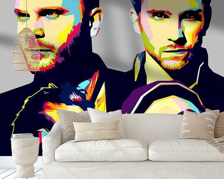 Beispiel fototapete: Pop Art Coldplay von Doesburg Design