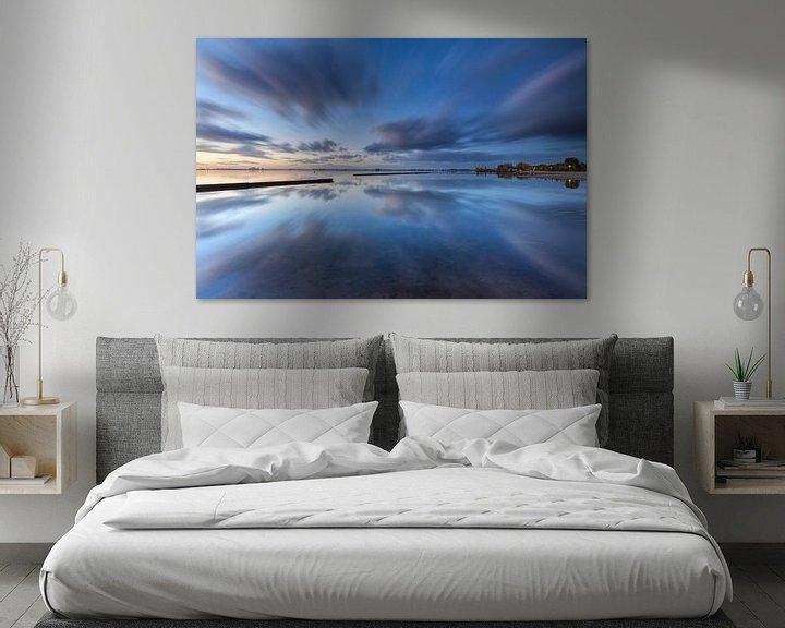 Impression: Wolken perfect weerspiegeld in het Schildmeer sur Ron Buist