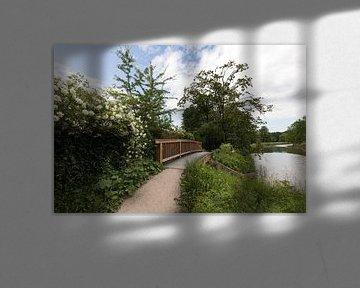 Over het jaagpad langs de Kromme Rijn
