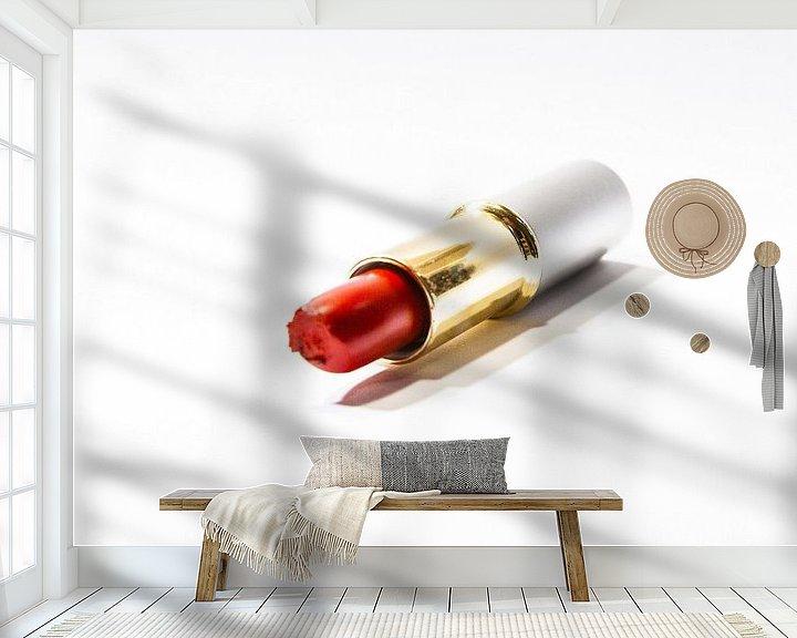 Sfeerimpressie behang: lippenstift 2 van Norbert Sülzner