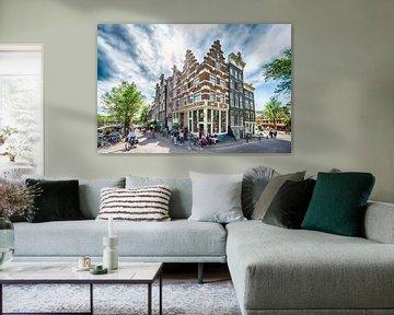 Die schönsten Kanalhäuser der Brouwersgracht in Amsterdam von Foto Amsterdam / Peter Bartelings