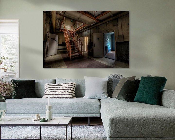 Beispiel: Treppe in eine verlassene gefängnis von Eus Driessen