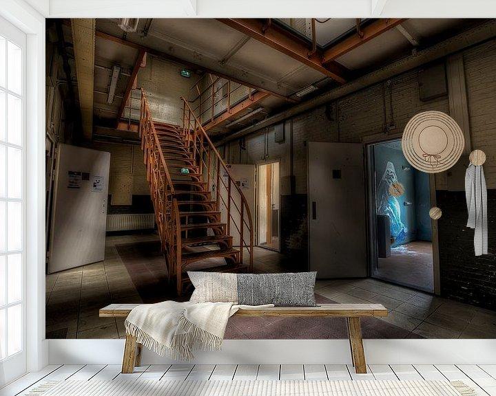 Beispiel fototapete: Treppe in eine verlassene gefängnis von Eus Driessen