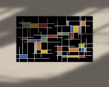 kleurrijke rechthoeken
