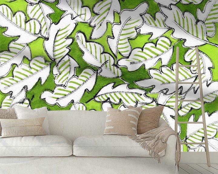 Beispiel fototapete: Grüne Blätter von ART Eva Maria