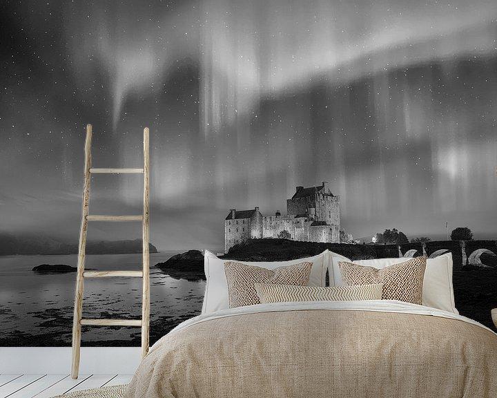 Sfeerimpressie behang: Eilean Donan Castle in Dornie Scotland van Peter Bolman