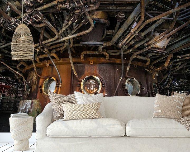 Sfeerimpressie behang: Surrealistische Industrie van Patrick Verhoef