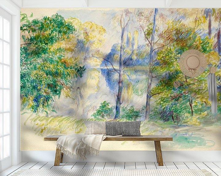 Beispiel fototapete: Blick auf einen Park - Pierre-Auguste Renoir