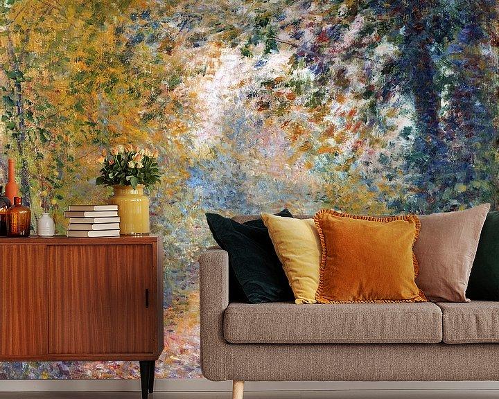 Beispiel fototapete: Im Wald – August Renoir