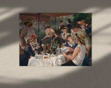 August Renoir.  Lunch van de roeiers