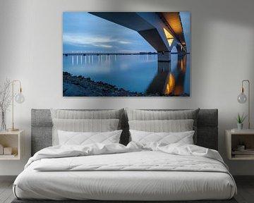 Hollandsch Diep mit Moerdijk-Brücken von Eugene Winthagen